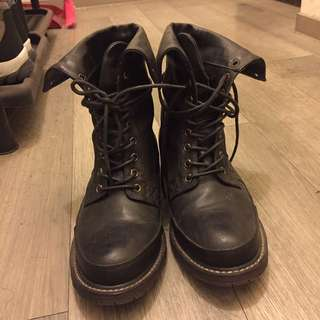 Air Space黑靴 / 9成新 / 鞋底無磨耗