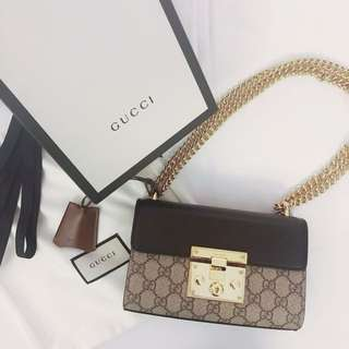 GUCCI Padlock GG Shoulder Bag Small Size