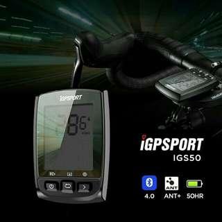 100%NEW IGPSPORT IGS50 ANT+ GPS Cycling Computer 無線ANT+ GPS單車碼錶~~~送SRAM 碼錶延伸座