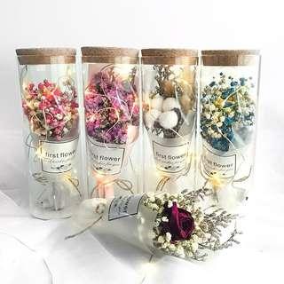 Preserved Flower Tube Jar