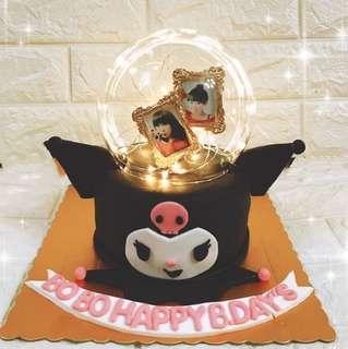 Kuromi水晶球相片蛋糕