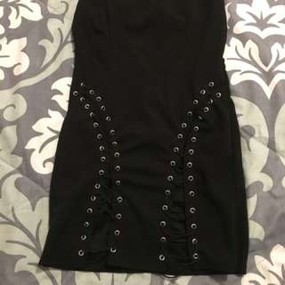 Forever 21 lace up dress