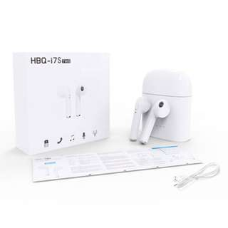 (限定優惠$178) HBQ i7S TWS 雙耳真無線藍芽耳機連充電盒 Wireless Bluetooth headphone V4.2 portable Mini headset charger box