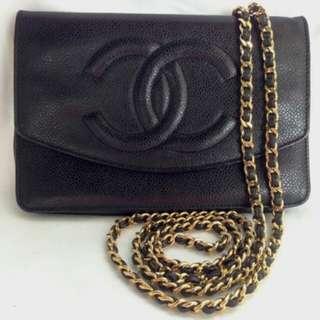 Markdown!!chanel woc black caviar crossbody bag