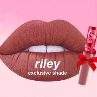 Authentic Limecrime Riley Matte Liquid Lipstick Mini & Velvetines Rose Tin - Warm Coco Nude Brown Lime Crime