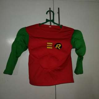 Robin Superhero Costume for boys free shipping