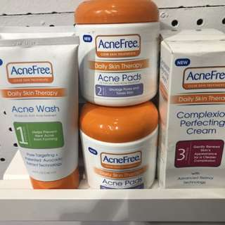 Acne free 3 step cleansing