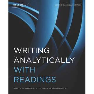 Writing Analytically Second Canadian Edition
