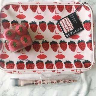 Sephora Collection x Bouffants & Broken Hearts collaboration travel set