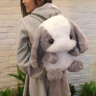 超萌毛絨兔子後背包