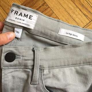 FRAME le high skinny