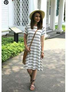 Stripe Cotton Tee Shirt Dress