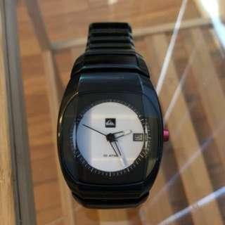 Black steel Cuba Quiksilver watch