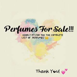 PERFUMES 100% AUTHENTIC!! 😊