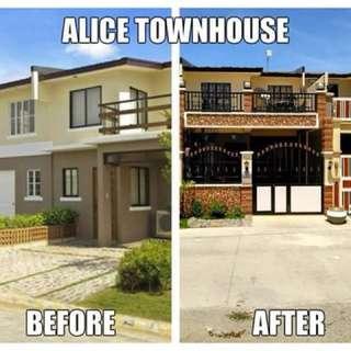 3 bedrooms, 1 bathroom with garage townhouse near Manila/Makati