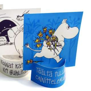 (Australia only) 🇫🇮FINLAND Moomin postcard stand with Moomin special stamps
