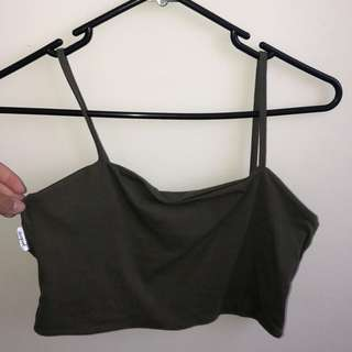Supre khaki crop top