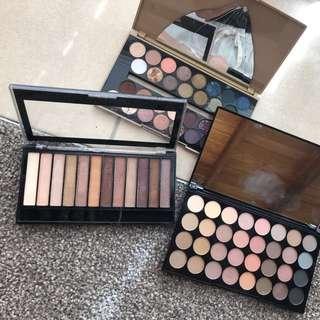 3 Makeup Revolution Palettes