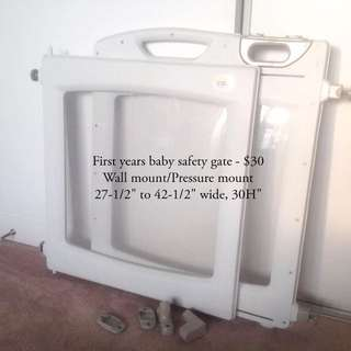 First year baby gate