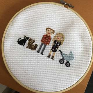 Custom cross-stitch portraits