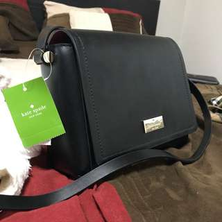 BNWT Kate Spade Black Leather Crossbody Handbag