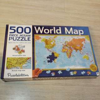 Puzzle - 500 Piece Word Map Jigsaw Puzzle