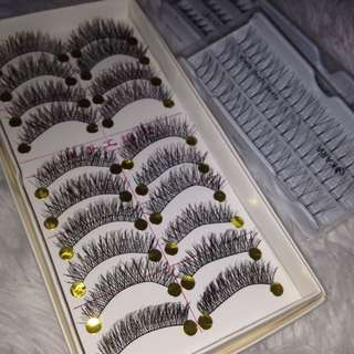 Mixed lashes