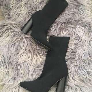BARDOT sock heel boots
