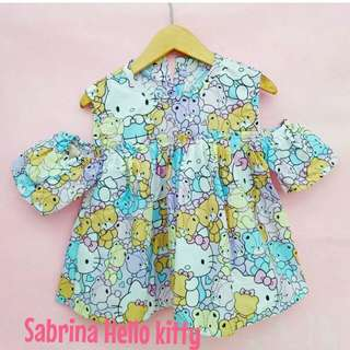 Baju Sabrina Hello kitty