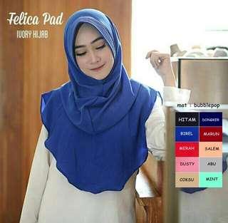 KDH - 0118 - Kerudung Hijab Instant Felica Pad