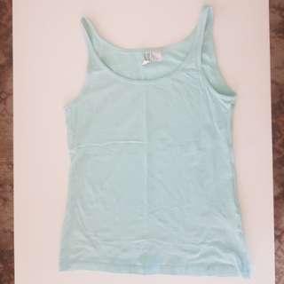 H&M pale blue singlet