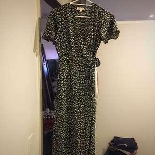 Monteau maxi dress wrap