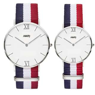 Couple Nylon Strap Watch