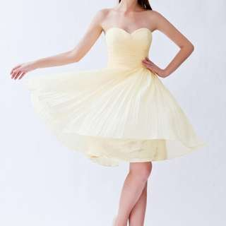 Champagne Golden Yellow Formal Evening Prom Dress