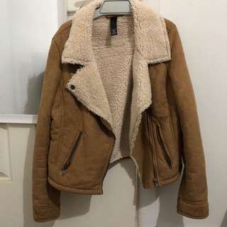 Brown , fur jacket