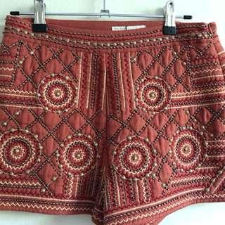 Zara beaded shorts XS