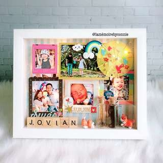 Personalised 3D Photo Frame (umbrella, dog, rainbow)