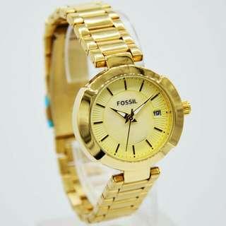 jam tangan Fossil date Cantik