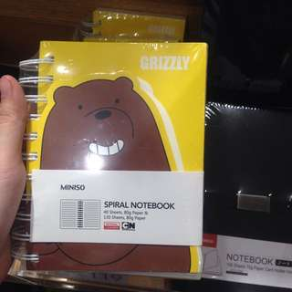 Grizzly:We bare bears Spiral Notebook