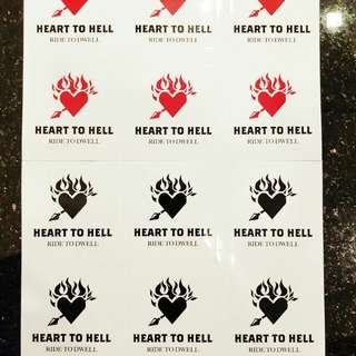 Heart to Hell Stickers