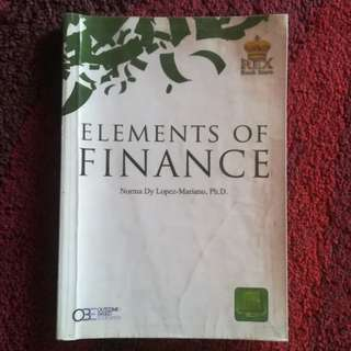 Elements of Finance