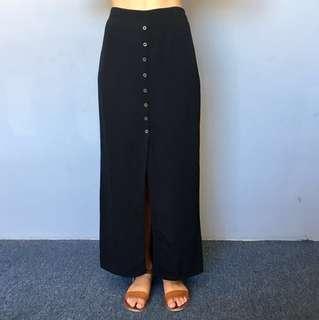 Boho Black Skirt