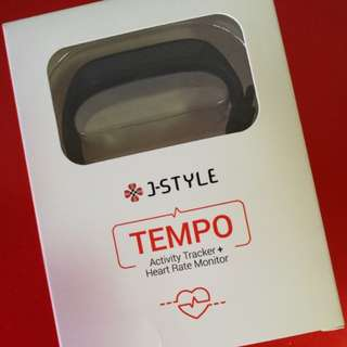J Style Tempo Activity Tracker & Heart Rate Monitor