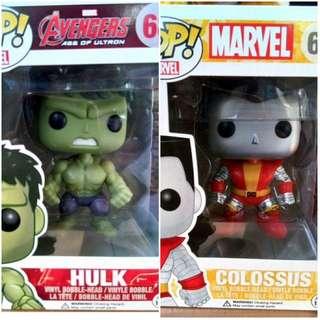 Pop Marvel Hulk and Colossus