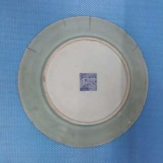 豆青 瓷碟 大瓷碟  W-61