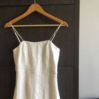 BARDOT White Sequin Dress