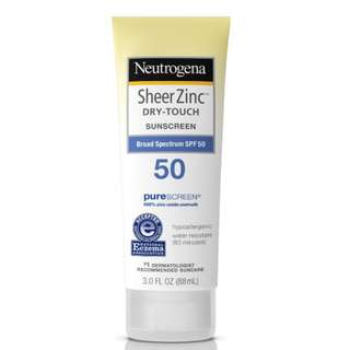 Neutrogena Sheer Zinc Sunscreen SPF 50