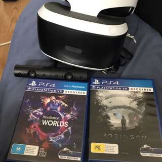 Ps vr+camera+2game