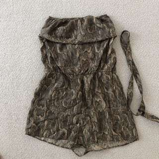 Zimmermann Snake print playsuit