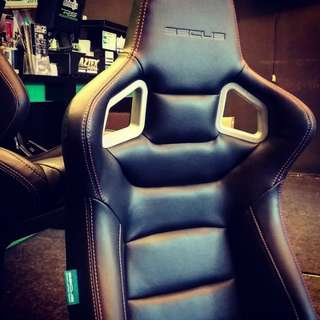 SSCUS EURO BUCKET SEAT WITH LEATHER PU
